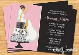 where to register for a bridal shower bridal shower invitation pink and black damask cake