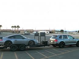 porsche cayenne towing towing race car with cayenne s 6speedonline porsche forum and