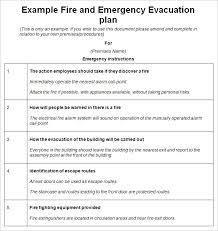 emergency evacuation plan template 10 free word pdf documents
