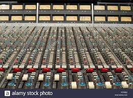 Sound Desk Ssl E Series Sound Mixing Desk Showing Buttons Knobs And Controls