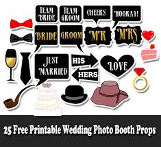 wedding photo props free printable wedding photo booth props