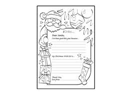 letter to santa template printable black and white letter to santa template ichild