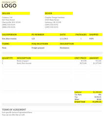 example commercial invoice comercial invoice template 2016 free invoice template