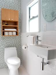 small bathroom ideas on a budget stained teak wood storage