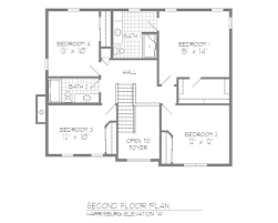 Dutch Colonial Floor Plans Traditional Center Hall Colonial House Plans