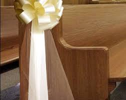 church pew decorations tulle pew bows etsy