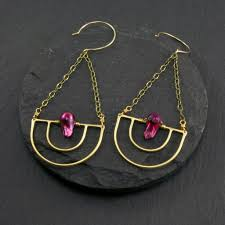 serenity earrings serenity earrings fuchsia chroma rocks