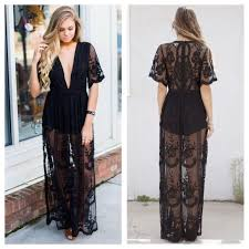 honey clothing honey punch black embroidered lace maxi dress from chauntel s