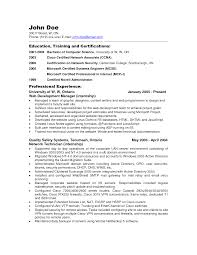network administrator resume sample pdf luxury best network