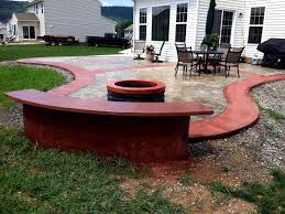custom curved patio with fire pit thorncrete studio