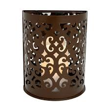 Flameless Candle Wall Sconce Montrose Etched Flameless Candle Sconce Pacific Accents