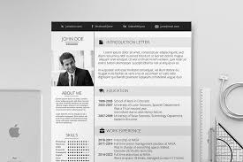 stylish resume template photos graphics fonts themes templates
