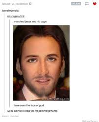 Nicolas Cage Meme - i morphed jesus and nic cage weknowmemes
