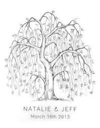 thumbprint fingerprint signature wedding tree by specialprints