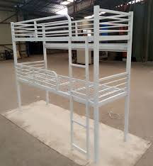 Two Floor Bed by Home Hostel Dorm Cheap Twin Double Size 2 Level Bunk Steel Metal