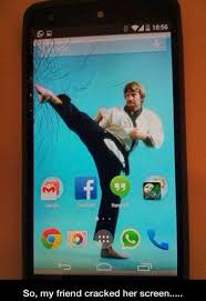 Broken Phone Meme - cracked screen
