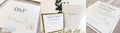 wedding invitations edinburgh edinburgh skyline place card luxury wedding invitations