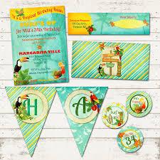 margarita birthday valerie pullam designs tropical island birthday party suite