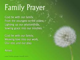 9 family prayers blessings for unity reunions