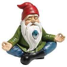 Home Decor Buddha Statue Campania International Fred The Meditating Gnome Cast Stone Garden