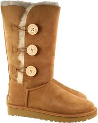 womens ugg boots with buttons ugg boots womens bailey button triplet chestnut landau store