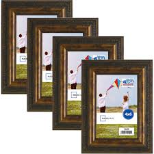 mainstays antique gold frame set of 4 multiple sizes available