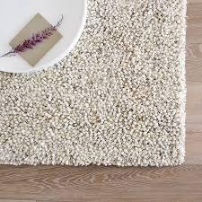 White Shag Rug Bello Shag Wool Rug West Elm