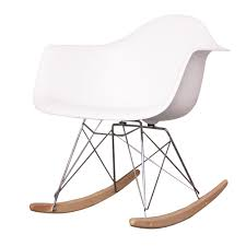 White Rocking Chair White Eames Style Rar Rocking Chair Ireland Exclusive U2013 Ca Design