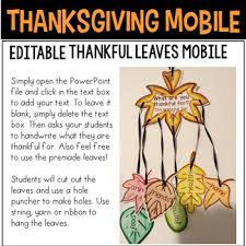 thanksgiving mobile craft giving thanks leaves mobile craft