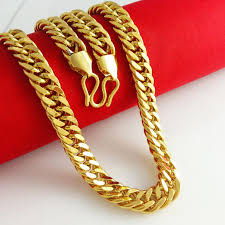 aliexpress buy new arrival fashion 24k gp gold 2018 wholesale new arrival 24k gold plated necklace men women