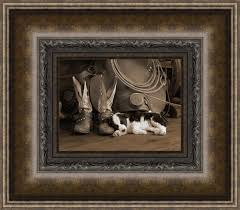 home interior cowboy pictures western framed prints