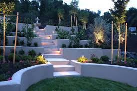 Sloping Backyard Landscaping Ideas Concrete Sloped Backyard Landscaping Amazing Sloped Backyard