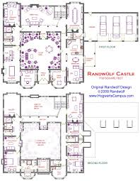 Courtyard Homes Floor Plans by 2 Story Castle With Courtyard New House Lottery House Ideas