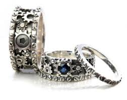 Star Wars Wedding Rings by His And Hers Star Wars Ring Set Sterling Silver With Rubies