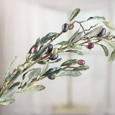artificial olive tree branch stem picks and stems floral