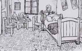 drawn bedroom vincent van gogh pencil and in color drawn bedroom pin drawn bedroom vincent van gogh 11
