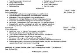 cosmetologist resume cosmetology resume exles image resume sle and template