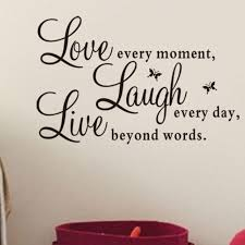 high quality fashion vinyl decal u201clive every moment laugh