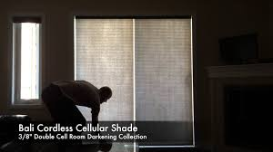 Blackout Cellular Blinds Decorating Blackout Bali Cellular Shades With Wicker Ottoman And