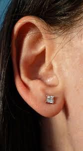 earrings on ear diamond stud earrings on ear diamondstud
