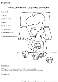 coloriage educatif fiches de cuisine à colorier recette de