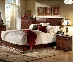 Cherry Wood Sleigh Bedroom Set Cherry Wood Sleigh Bedroom Set Sets Solid Furniture Natural