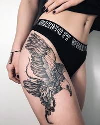 tattoo eagle girl 50 amazing perfectly place eagle tattoos designs with meaning