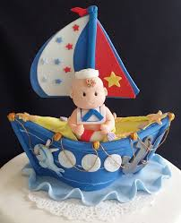 nautical cake toppers sailor cake topper nautical baby shower blue boat cake toppers