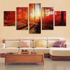 5pcs modern art oil paintings canvas print unframed pictures home