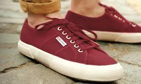 superga classic 2750 dark bordeaux shoes sandals