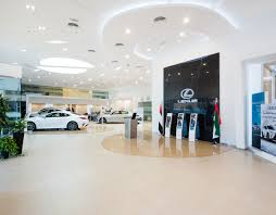 analysing car showroom design by al futtaim interiors design