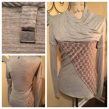 fred sabatier fred sabatier tunic light cotton asymmetrical design tunic in gray