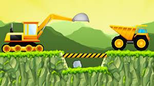 trucks for children construction game excavator front loader