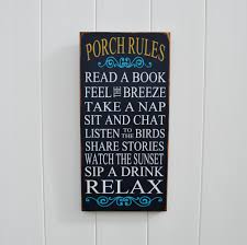 porch rules sign porch signs outdoor decor sign patio